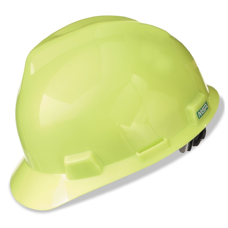 MSA yellow v gard hard hat