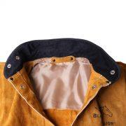 black stallion split leather welding jacket satin lined inside shoulders