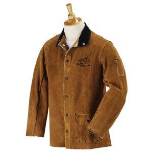 black stallion split leather welding jacket