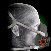 3m 6300 half face piece reusable respirator side view