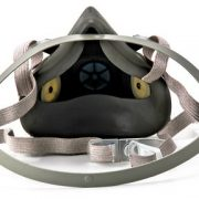 3m 6300 half face piece reusable respirator inside view