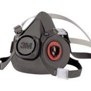 3m 6300 half face piece reusable respirator alt angle
