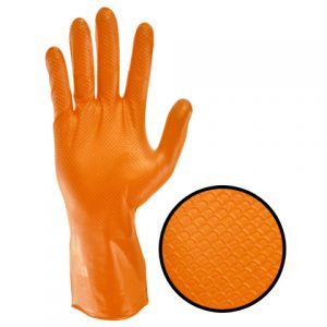 GPNR-AZO Orange Nitrile Gloves