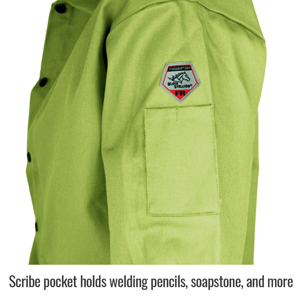FL9-30C Welders jacket Lime Green Scribe Pocket