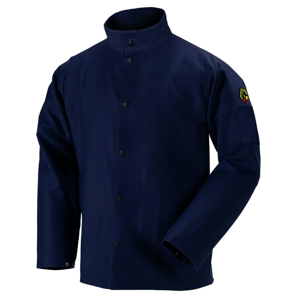Black Stallion flame resistant cotton jacket navy blue