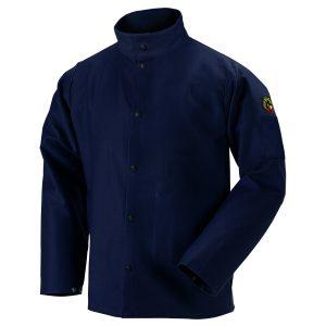 Black Stallion flame resistant cotton jacket navy blue