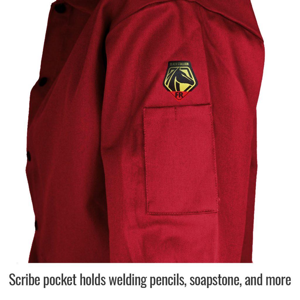 Close up of side arm pocket