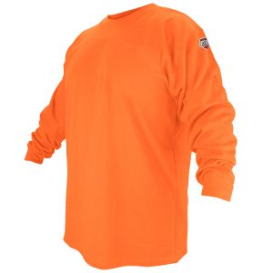 Black Stallion flame resistant long sleeve shirt, orange