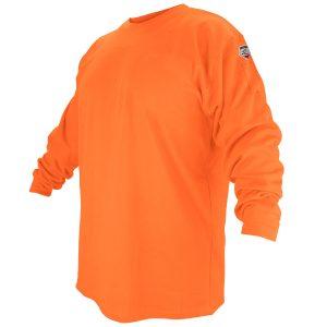 Black Stallion flame resistant long sleeve shirt, orange