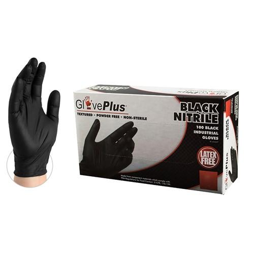 GPNB46100 black nitrile glove