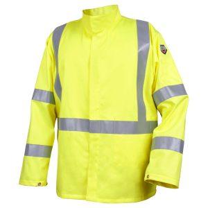 Black Stallion Hi Vis flame arc resistant cotton jacket