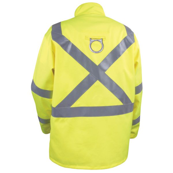 Black Stallion Hi Vis flame arc resistant cotton jacket backside