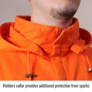 Black stallion flame resistant hoodie welders collar