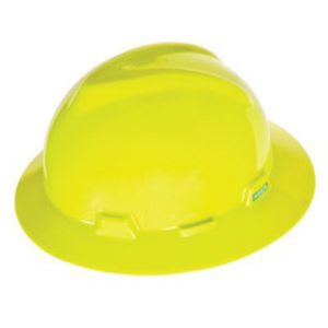 MSA v gard full brim yellow