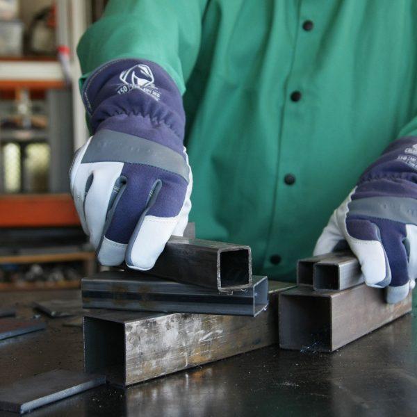 Black Stallion Premium TIG welding glove action shot 2