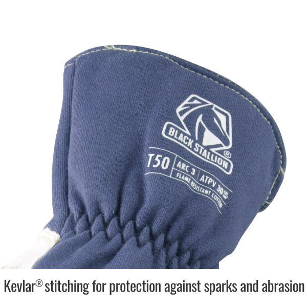 Black Stallion Premium TIG welding glove kevlar sticking