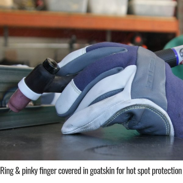 Black Stallion Premium TIG welding glove ring and pinky