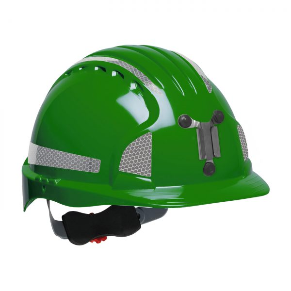 Evolution Deluxe 6151 mining hard hat green