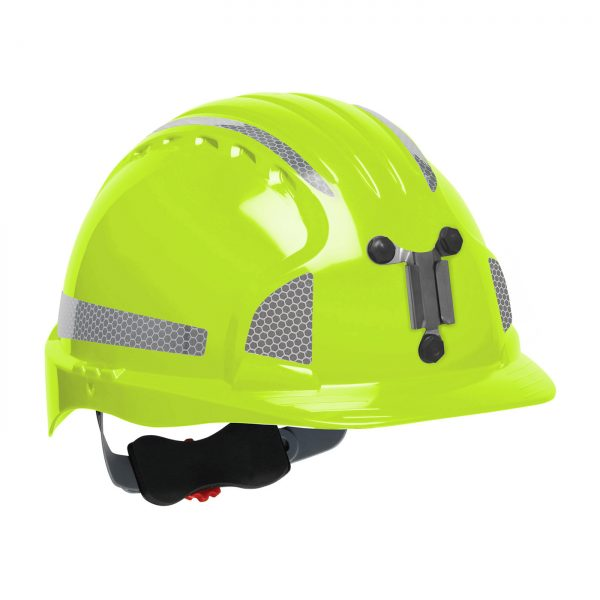 Evolution Deluxe 6151 mining hard hat lime yellow