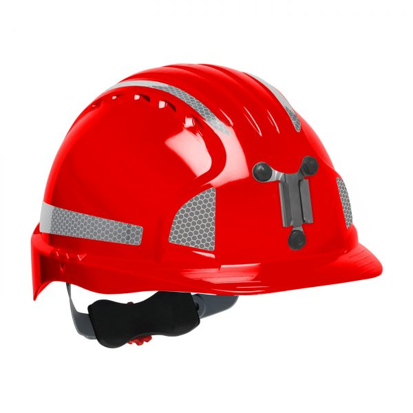 Evolution Deluxe 6151 mining hard hat red