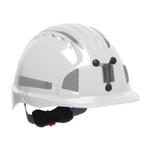 Evolution Deluxe 6151 mining hard hat white