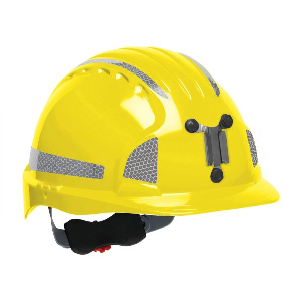 Evolution Deluxe 6151 mining hard hat yellow