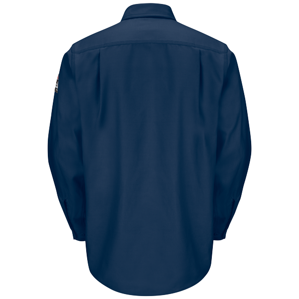 Bulwurk IQ FR work shirt navy back