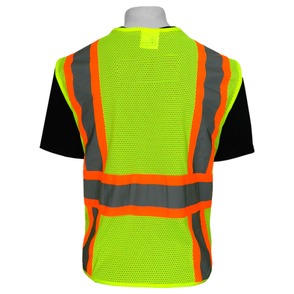 Global Frogwear GLO-002 ANSI 2 Vest back