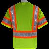 Global FrogWear GLO-12LED Safety Vest with LED lights, on, back