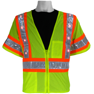 Global FrogWear GLO-12LED Safety Vest with LED lights, on