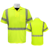 Global GLO-209 Yellow\Green ANSI class 3 Polo Front and Back