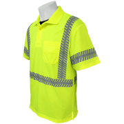 Global GLO-209 Yellow\Green ANSI class 3 Polo Left Side
