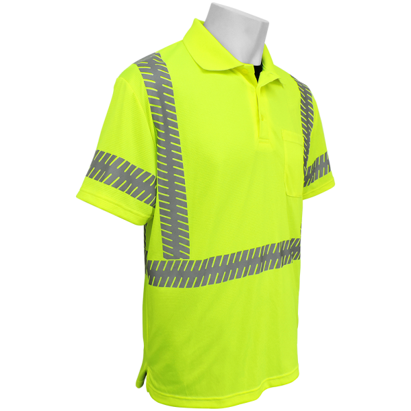 Global GLO-209 Yellow\Green ANSI class 3 Polo Right Side