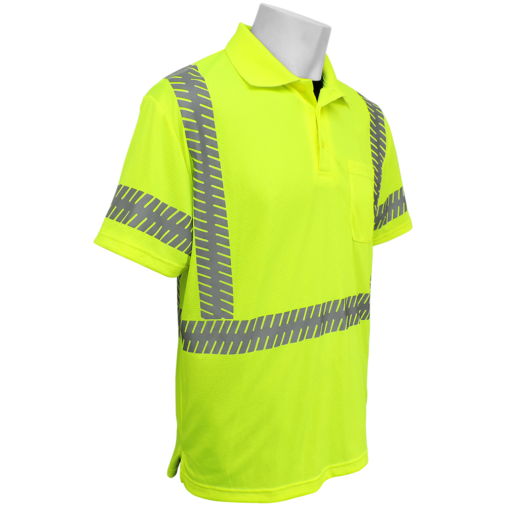 Global Frogwear Glo 209 Ansi Class 3 Neonyellow Polo Shirt Tri
