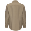 iQ series Flame resistant shirt woman's in kahki back side