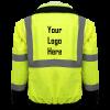 Global Frog Wear GLO-B2 Bomber Style Jacket Back with Logo
