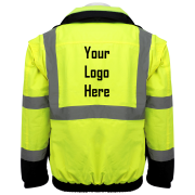 Global Frog Wear GLO-B2 Bomber Style Jacket Back with Logo