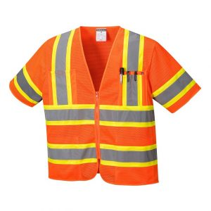 Portwest US383 Orange Safety Vest