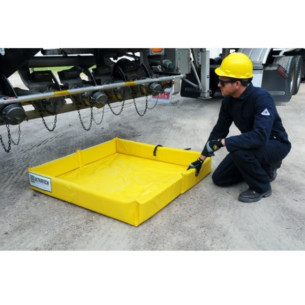 Ultra Tech Mini Foam wall berm under truck
