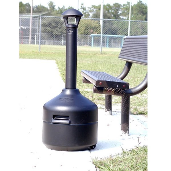 UltraTech Ultra-Stop Smoke Black Park Bench