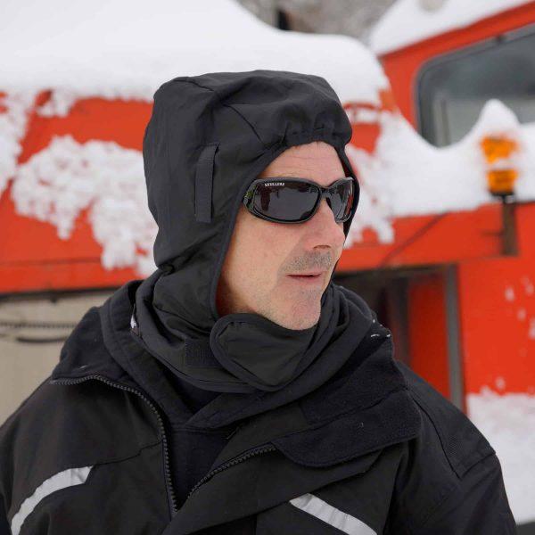 Ergodyne N-Ferno Winter Hard Hat Liner In Use