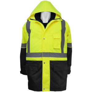 Global FrogWear GLO-P2 3-in-1 Parka and Vest Combo ANSI Class 3 and 2