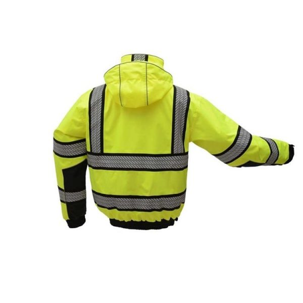 GSS Safety Onyx 3-in-1 hivis bomber jacket back