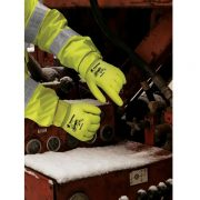 MCR Safety High Vis Ninja Ice Glove N9690HV in Action