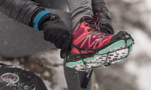 Yaktrax Pro Ice Snow Traction Over-Shoe Device In Action