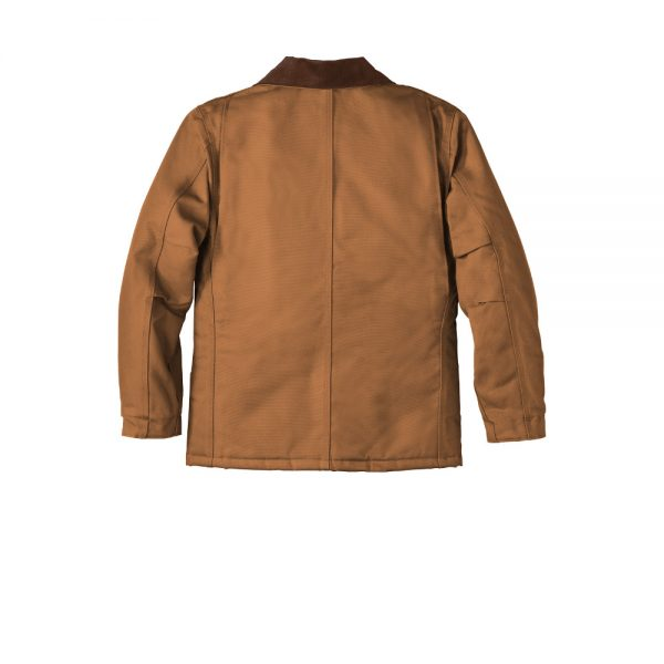 Carhartt Duck Traditional Coat CTC003 Brown Back