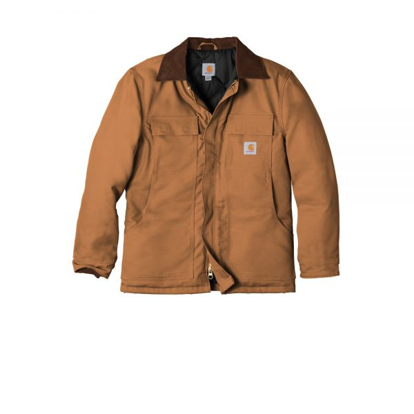 Carhartt Duck Traditional Coat CTC003 Brown Front