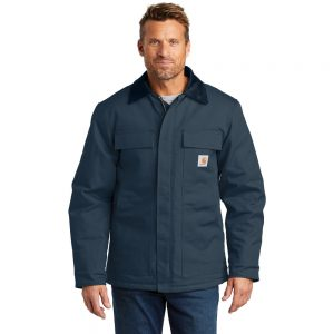 Carhartt Duck Traditional Coat CTC003 Navy Front Model