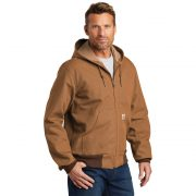 Carhartt Thermal Lined Duck Active Jacket CTJ131 Brown Man Angled