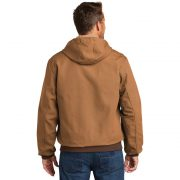 Carhartt Thermal Lined Duck Active Jacket CTJ131 Brown Man Back